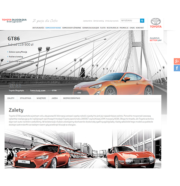 Web sites for leading Toyota Dealership